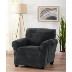 Chair Covers Gray Accent Chairs Set Of 2 Buy T Cushion Slipcovers Online At Overstock Com Great Bay Home Velvet Plush Form Fit Slipcover