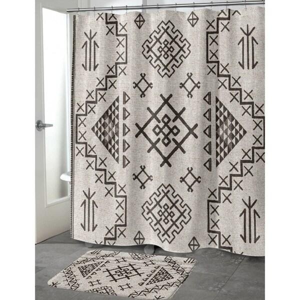aztec beige shower curtain by marina gutierrez