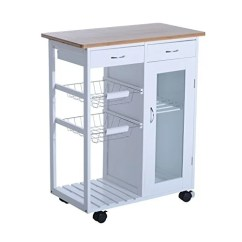 Kitchen Serving Cart Bulletin Board Shop Homcom 34 Rolling Trolley With Drawers And Cabinet Free Shipping Today Overstock Com 18088169