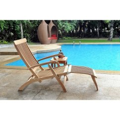 Folding Chaise Lounge Chair Outdoor Emerald Green Accent Shop Steamer Teak Free Shipping Today Overstock Com 18095324
