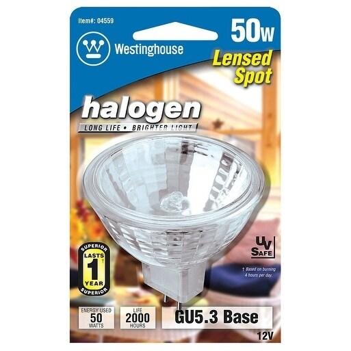 Westinghouse  Halogen Light Bulb  50 watts 510 lumens Spotlight  MR16  GU5.3  White  1 pk