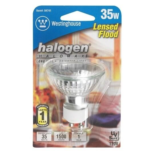Westinghouse  Halogen Light Bulb  35 watts 180 lumens Floodlight  MR16  GU10  White  1 pk