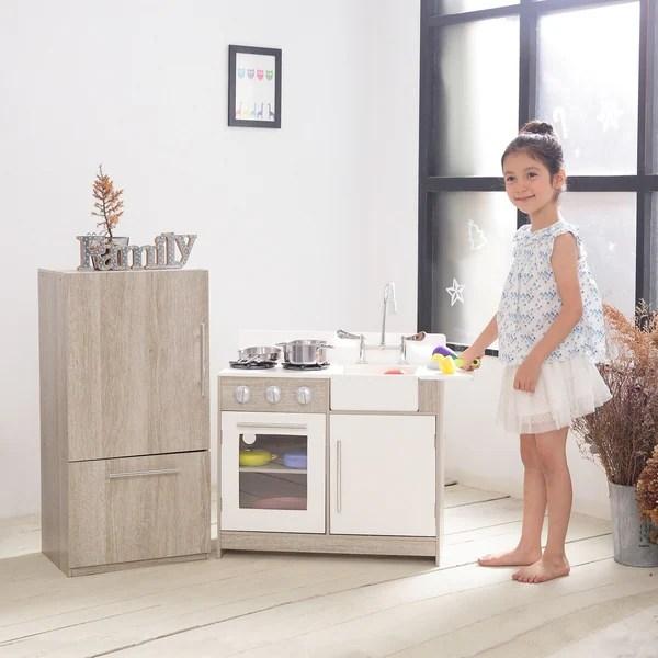 play kitchens for sale kitchen countertops michigan shop teamson kids soho big oak grain silver on