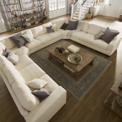 Sectional Sofa Deals Free Shipping Extra Large Corner Uk Shop Lionel White Cotton Fabric Down-filled U-shaped ...