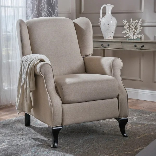christopher knight club chair wholesale stadium chairs shop deirdre traditional winged fabric recliner by home
