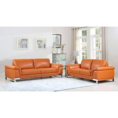 2 Piece Living Room Furniture Modern Wallpaper Ideas 2018 Shop Divanitalia Arezzo Luxury Italian Leather Upholstered Sofa Set
