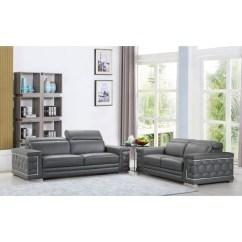 Living Room Furniture Leather And Upholstery Dining Shop Divanitalia Ferrara Luxury Italian Upholstered 2 Piece Sofa Set