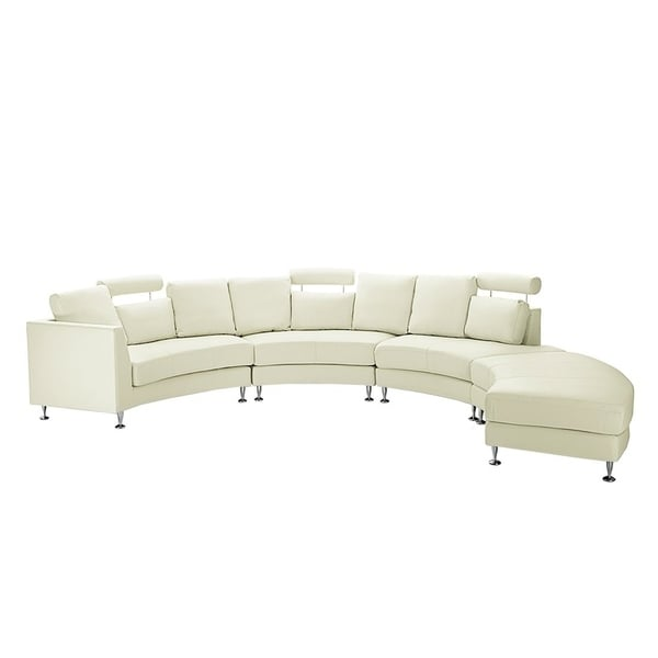 curved sectional sofa leather pink velvet shop cream rotunde on sale free