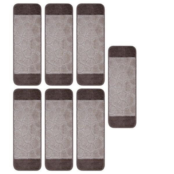 Shop Ottomanson Softy Carved Bi Color Design Non Slip Stair Treads | Ottomanson Softy Stair Treads | Carpet Stair | Softy Carved | Amazon | Softy Collection | Non Slip Stair