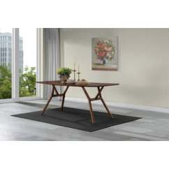 Dark Kitchen Table Used Sinks For Sale Buy Modern Contemporary Dining Room Tables Online At Handy Living Georgetown Walnut Finish Wood Rectangular