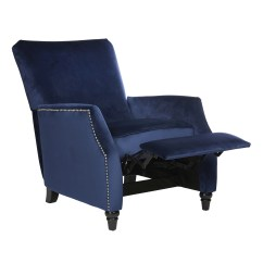 Blue Recliner Chair How To Make A Wooden Chairs And Rocking Recliners For Less Overstock