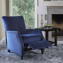 Blue Recliner Chair Bows For Wedding Chairs And Rocking Recliners Less Overstock