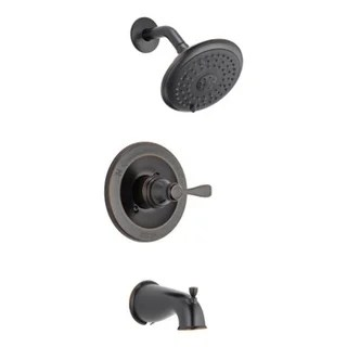 delta tub and shower faucet 1 handle classic oil rubbed bronze finish chrome material