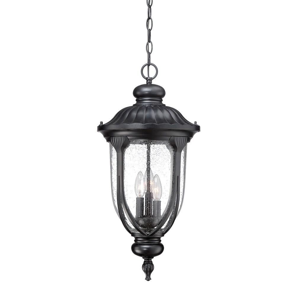 Acclaim Lighting Laurens Collection Hanging Lantern 3-Light Outdoor Matte Black Light Fixture