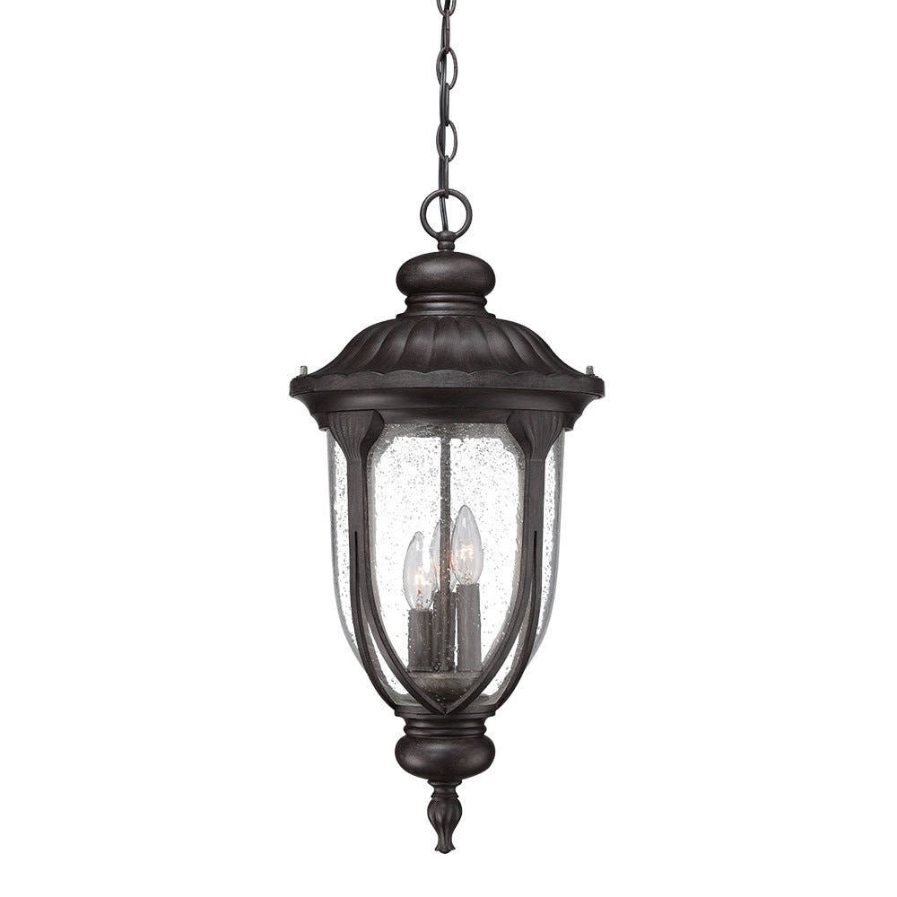 Acclaim Lighting Laurens Collection Hanging Lantern 3-Light Outdoor Black Coral Light Fixture