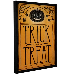 Sara Miller's Vintage Halloween Trick or Treat, Gallery Wrapped Floater-framed Canvas