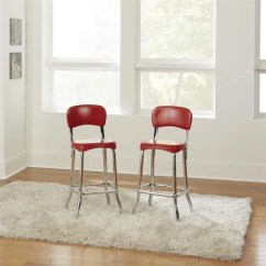 Retro Chrome Chairs Building An Adirondack Chair Shop Cosco Red 2pc High Top On Sale Free