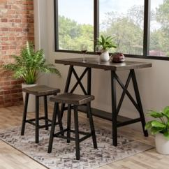 Bar Height Tables And Chairs Padded Shower Chair With Armrests Buy Pub Online At Overstock Com Our Best Dining Room Hollenbeck Rustic Medium Weathered Oak Counter Table By Foa