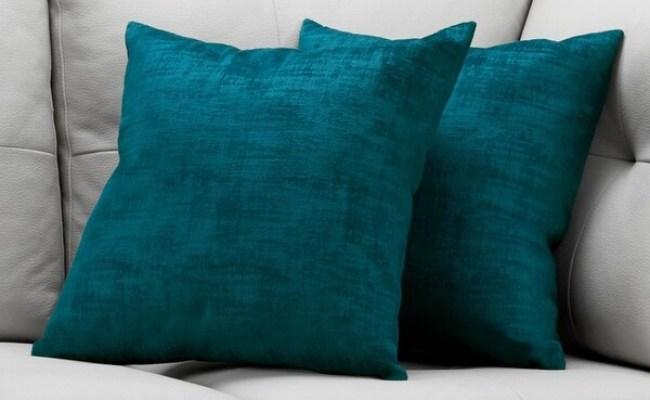 Shop Pillow 18 X 18 Turquoise Brushed Velvet 2pcs