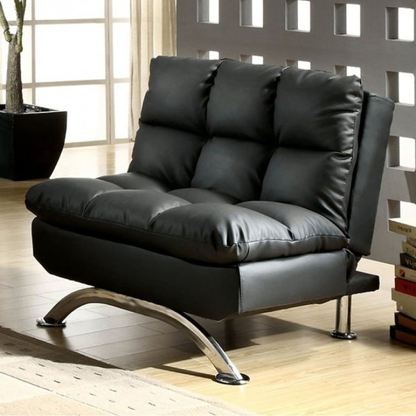 single sofa chair designer sofas south africa shop aristo contemporary with leather black free shipping today overstock com 18231660