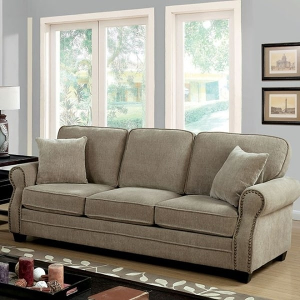 brown fabric sofa child pull out shop lynne transitional style chenille free shipping today overstock com 18231757