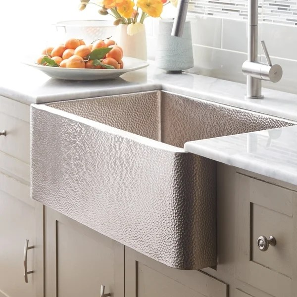 30 kitchen sink exhaust cleaning shop farmhouse brushed nickel inch undermount apron front free shipping today overstock com 18235233