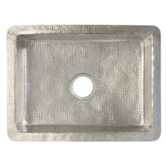 24 Kitchen Sink Wall Signs Shop Cocina Hand Hammered Brushed Nickel Inch Undermount Free Shipping Today Overstock Com 18235261
