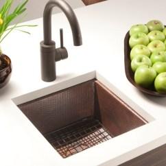Kitchen Prep Sink Laminate Cabinets Shop Cantina Hammered Antique Copper Undermount Bar