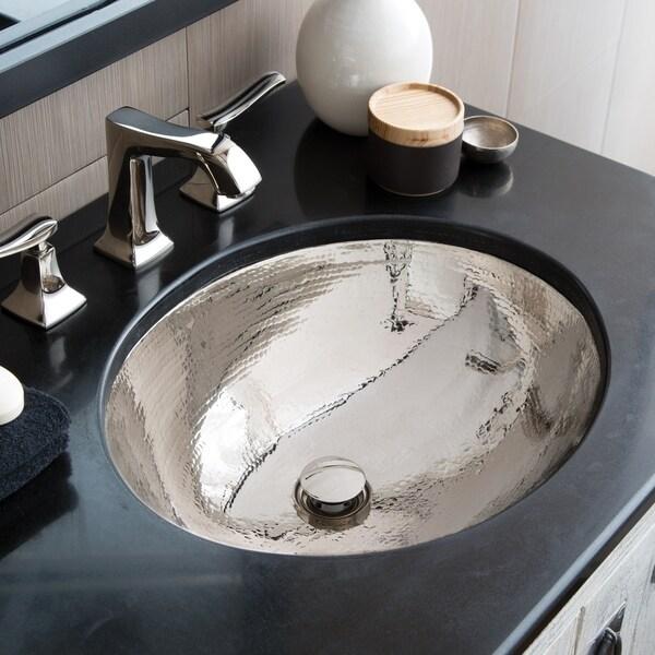 classic polished nickel undermount bathroom sink 19 x 16 x 5 5