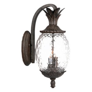 Acclaim Lighting Lanai Collection Wall-Mount 3-Light Outdoor Black Coral Light Fixture