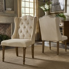 Dining Chairs Overstock Folding With Rack Shop Gilderoy Button Tufted Wingback Set Of 2 By Inspire Q Artisan