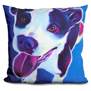 Lilipi Pit Bull - Marchant Decorative Accent Throw Pillow