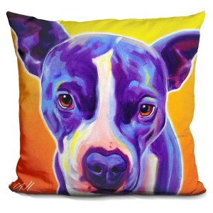 Lilipi Pit Bull Sadie Decorative Accent Throw Pillow