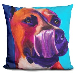 Lilipi Pit Bull - Tasty Decorative Accent Throw Pillow