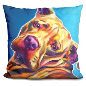 Lilipi Pit Bull - Dozer Decorative Accent Throw Pillow