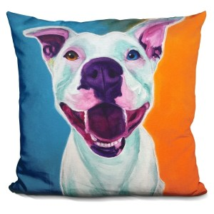 Lilipi Pit Bull - Angel Decorative Accent Throw Pillow