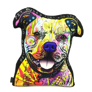 Lilipi Pit Bull Shaped Decorative Accent Throw Pillow