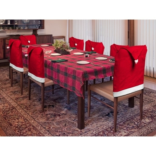 luxury christmas chair covers unfinished wood rocking shop 8 pack decoration indoors santa hat dining room cover set free shipping on orders over 45 overstock com 18589338