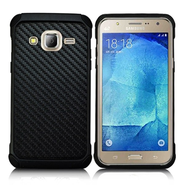 Shop Samsung Galaxy J7 (2015) Shock Case Black - Free Shipping On Orders Over $45 - Overstock - 18594379