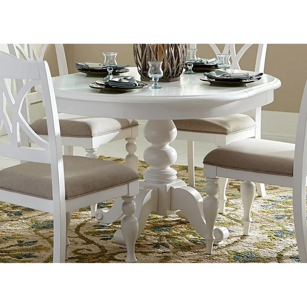 pedestal kitchen table sit at island shop summer house oyster white round dining on sale free shipping today overstock com 18618011