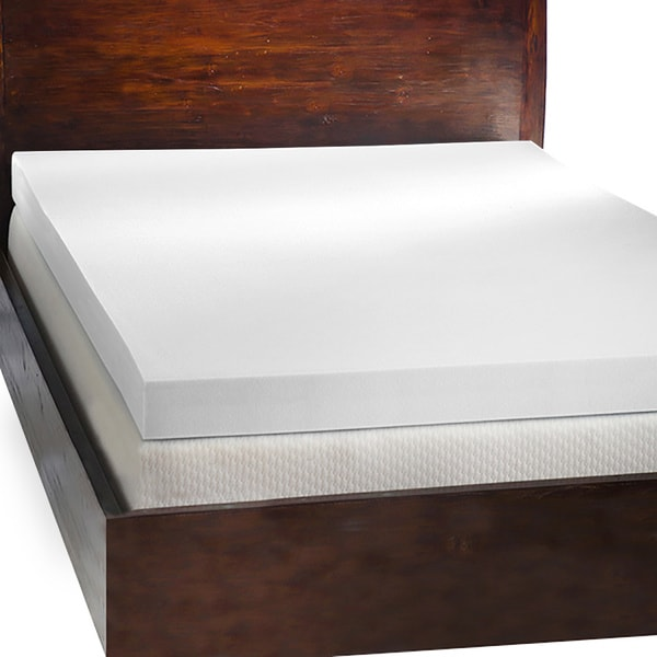 Comfort Dreams 4 Inch Memory Foam Mattress Topper With 2 Contour Pillows