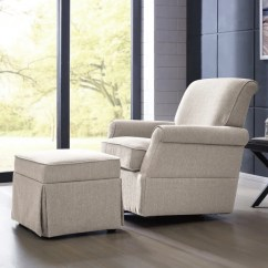 Swivel Club Chair With Ottoman Reclining Outdoor Shop Handy Living Oatmeal Linen Glider Arm Amp