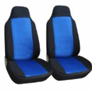 Classic Premium Bucket Cloth Car Truck Auto Seat Covers BLACK / BLUE