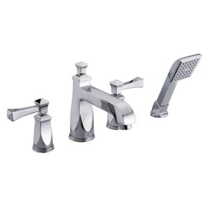 Roman Tub Faucet With Hand-held Shower Polished Chrome