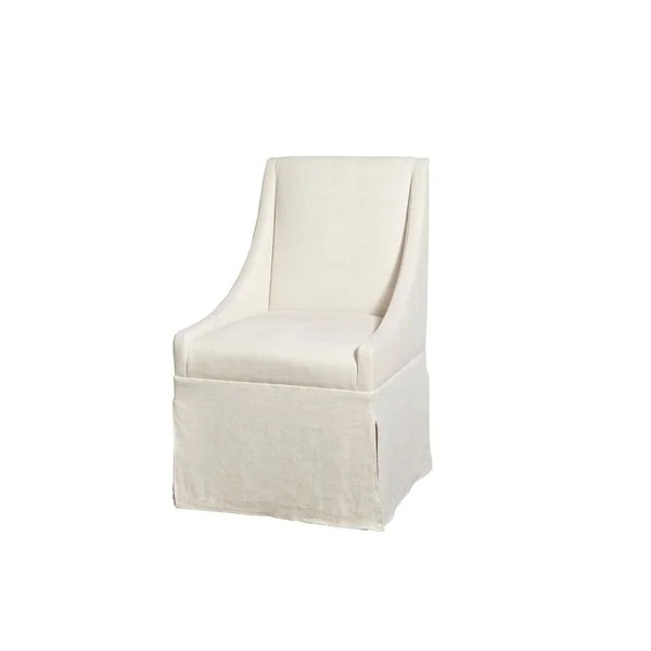 dining chairs on casters ready assembled office shop modern ivory townsend caster chair free shipping today