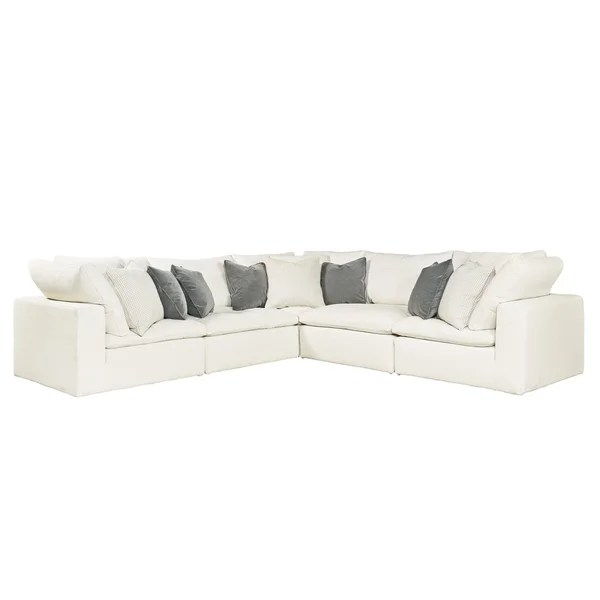 palmer sofa sectional deals free shipping shop curated ivory 5 piece ships to canada