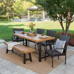Best Outdoor Dining Chairs Wheeled Shower Chair Buy Sets Online At Overstock Com Our Patio Salons 6 Piece Rectangle Wicker Wood Set By Christopher Knight Home
