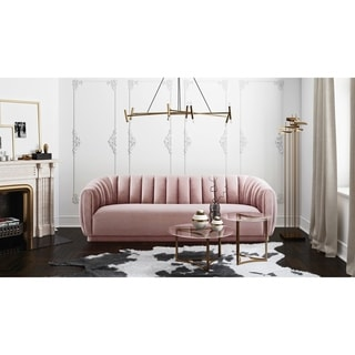 pink sofas european sofa bed with storage toronto buy couches online at overstock com our best living arno blush velvet