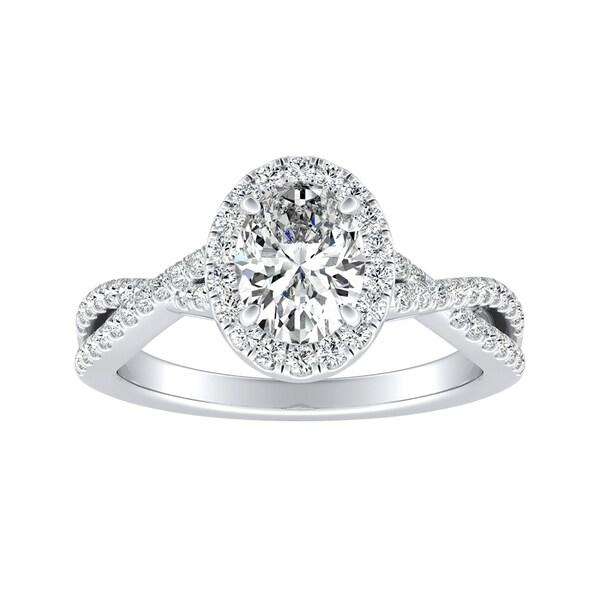 8ct Pear Shape Diamond Round Halo Splitshank Hand Ring 925 Sterling Silver Fine Jewelry
