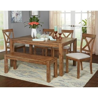 kitchen table and chairs with wheels chair covers arms uk buy rustic dining room sets online at overstock com our best bar furniture deals